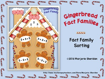 Fact Families Gingerbread Sort