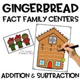 Fact Family Gingerbread Math Center