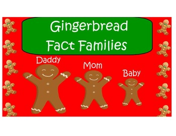 Fact Families: Gingerbread Theme