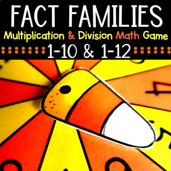 Halloween and Fall Fact Families Math Center Game