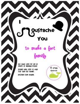 Fact Families - I Moustache You to Make a Fact Family