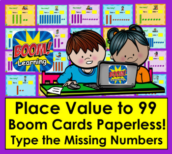 Boom Cards™ Place Value - Interactive Self-Checking Digital Task Cards