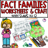 Fact Families Math Fall Themed Craft and Worksheets
