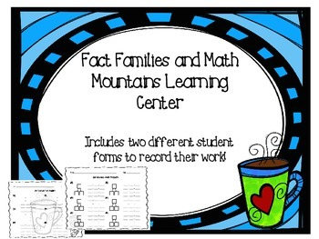 Fact Families & Math Mountain Game