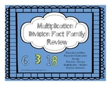Fact Families Multiplication / Division Review