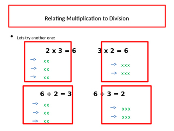 Fact Families, Multiplication and Division
