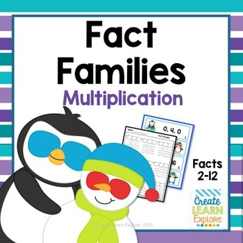 Fact Families Multiplication and Division Penguin Theme