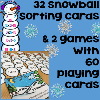 Fact Families Multiplication and Division - Winter Theme