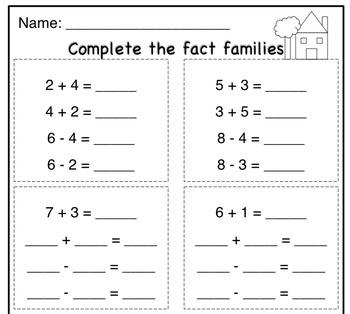 Fact Families Practice