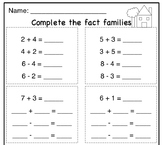 Fact Families Practice