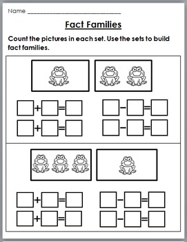 Fact Families Print and Go (Addition & Subtraction) - No Prep