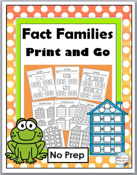 Fact Families Addition & Subtraction - No Prep