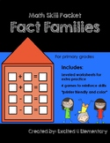 Fact Families Skill Pack (Scoot, I Have Who Has, Games, Wo