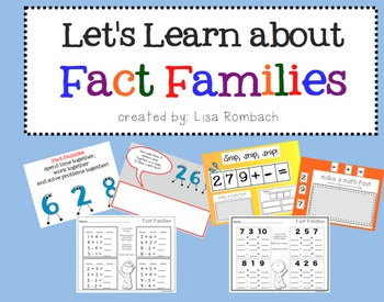 Fact Families SmartBoard lesson for Primary Grades