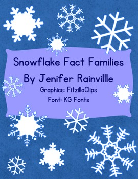 Fact Families Snowflake Theme
