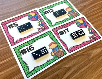 Fact Families - Spring Themed Domino Task Cards