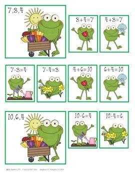 Fact Families - Springtime Frog