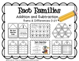 Fact Families: Sums and Differences 0-24