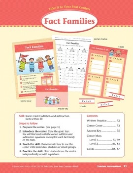 Fact Families (Take It to Your Seat Centers Common Core Math)