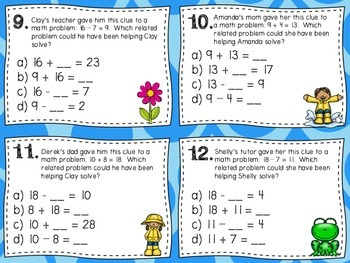 Fact Families Task Cards (Double Set)