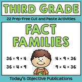 Fact Families Multiplication and Division (Third Grade Cut and Paste Practice)