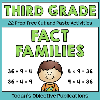 Fact Families Multiplication and Division (Third Grade Cut