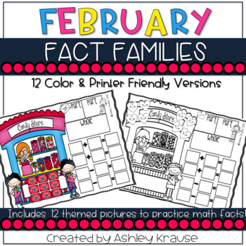 Fact Families - Valentine Candy Shop
