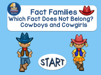 Fact Families Which Fact Does Not Belong  Interactive PowerPoint Self Correcting
