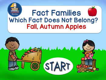 Fact Families Which Fact Does Not Belong  Self Correcting Interactive PowerPoint