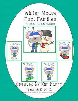 Fact Families - Winter Mouse