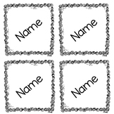 Lunch Count Name Tags *editable*