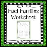 Fact Families Worksheet