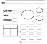 Fact Families Worksheet [Letters In Name]