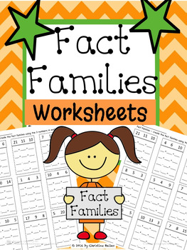Fact Families Worksheets