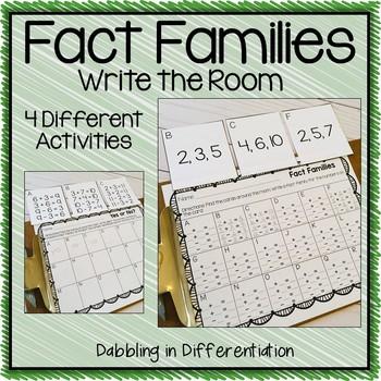 Fact Families Write the Room