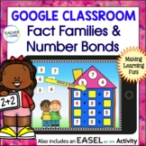 Google Classroom MATH FACT FAMILIES Digital Task Cards 1st & 2nd Grade