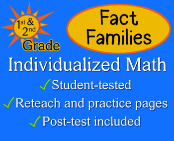 Fact Families, first/second grade - Individualized Math -