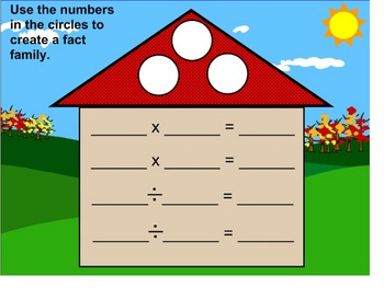 EDITABLE Fact Families for Multiplication & Division