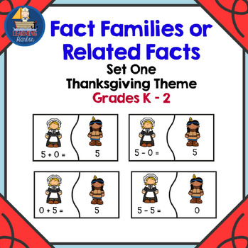 Fact Families of 5,6, and 7 First Thanksgiving Theme