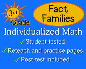 Fact Families, 3rd grade - worksheets - Individualized Math