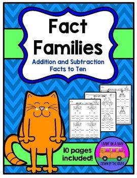 FACT FAMILIES to Ten
