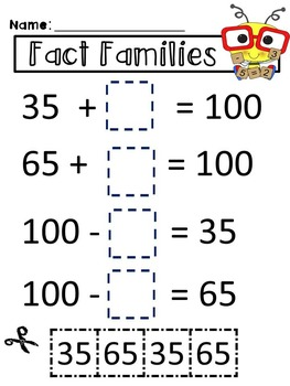 Fact Families - Worksheets & Printables
