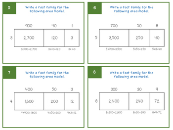Fact Families with Area Models and Arrays
