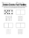 Fact Families with Dominoes Worksheet
