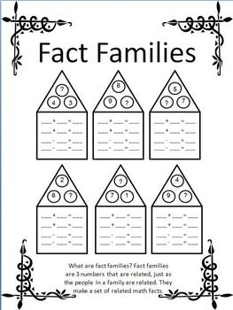 Fact Families | Worksheet | Education.com