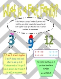 Fact Family Poster Set