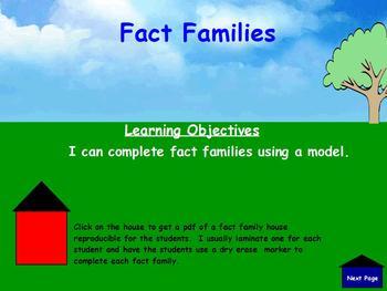 Fact Family Activeboard Activity