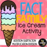 Math Fact Family Ice Cream Activity