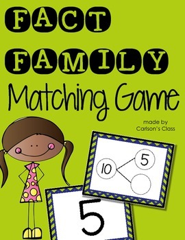 Fact Family Activity: Matching Game