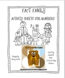 Fact Family Activity Sheets for Numbers 7-15